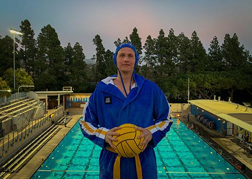 Luke Makshanoff enjoying his time at UCLA water polo