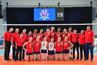 Dr Shepard accompanies USA Womens Volleyball