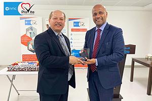 Congratulating the rehabilitation team in NMC Al Wadi, Al Ain.