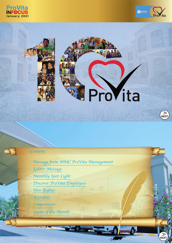 ProVita InFocus for the month of November 20