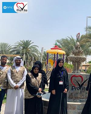 Team of Absher Ya Watan in the world health day