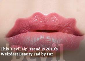 This 'Devil Lip' Trend Is 2019's Weirdest Beauty Fad by Far