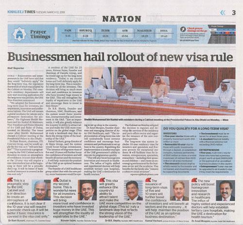 UAE businessmen keen to apply for long-term visa - Khaleej Times