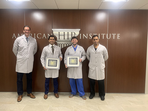 Congratulations to American Hip Institute fellowship graduates Dr. Mitchell Meghpara and Dr. Phillip Rosinsky. May they go on to save the world, one hip at a time!