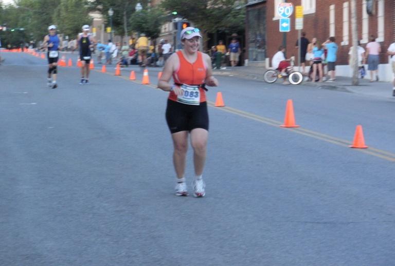 Beth Soltero on the final leg