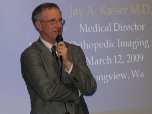 Dr. Jay Kaiser of National Orthopedic Imaging Associates