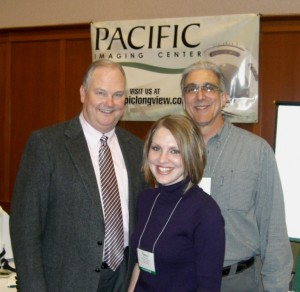 Berry (right) with PIC office assistant Nancy Stone and Longview chiropractor Dr. Clay Bartness