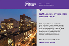 NYU Langone Orthopedics Webinar Series