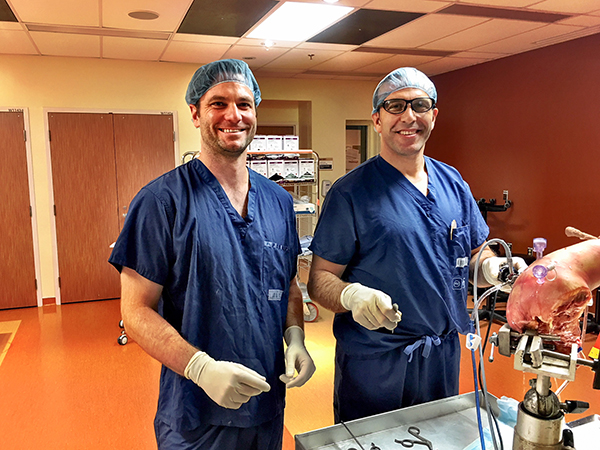 Dr. Mike Pickell and Dr. Laith Jazrawi at the University of Ottawa Simulation Center