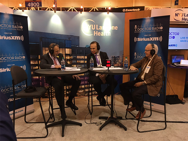 SeriusXM with James Andrews, MD at the 2018 AAOS Annual Meeting