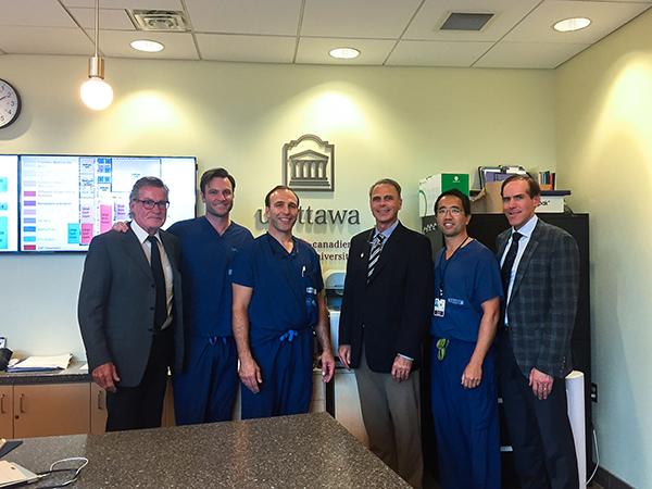 Visiting Professor at University of Ottawa Orthopedic Surgery
