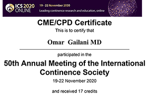50th Annual Meeting of the International Continence Society