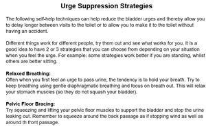 Urge Suppression Strategies