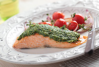 Easy Weeknight Dinner for Gastric Sleevers: Pesto Salmon with Tomatoes and Zucchini