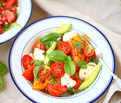 Caprese Salad with Avocado: Low Carb Dinner for Bariatric Patients and People with Type 2 Diabetes