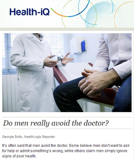 Do men really avoid the doctor