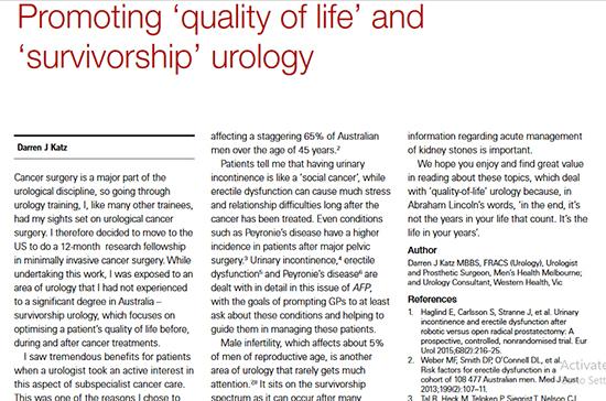 Quality Of Life Urology