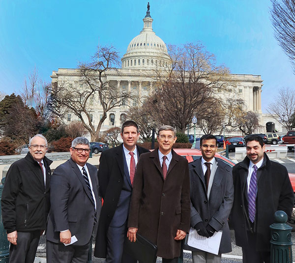 Dr. Levine joins members of AAHKS on Capitol Hill to lobby for a clarification of the outpatient designation for total knee replacements.