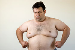 Fatty build-up in lungs of overweight and obese