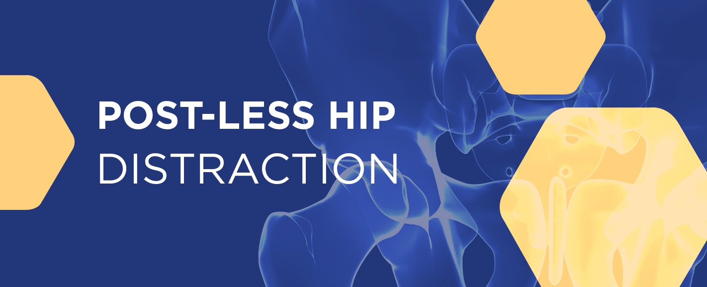 post-less hip distraction