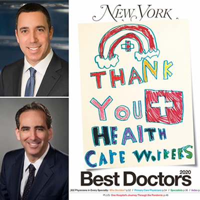 Congratulations to Drs. Dan Polatsch and Steve Beldner for being included once again in this year's New York Magazine Top Doctors list.